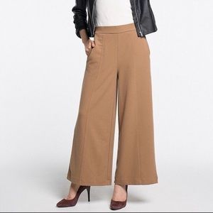 Textured Wide Leg Pants in Camel